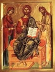 Mother Mary and John the Baptist prepare the way for the King of Glory